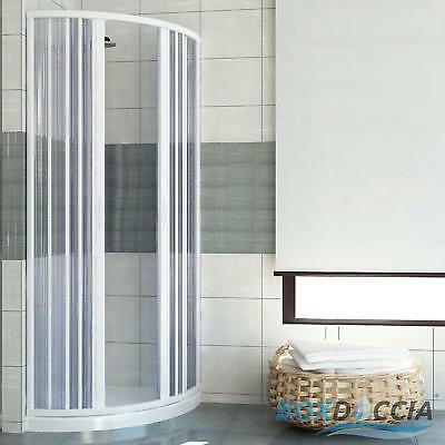 Shower Enclosure Semicircular Central Opening Cubicle Plastic Pvc Folding Doors