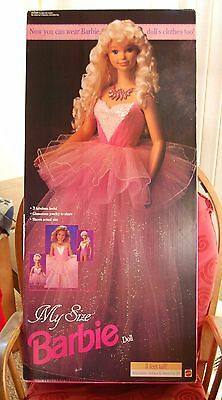 "1992 My Size Barbie Doll In Sealed Box 36"" Life Size Barbie Doll Mattel # 2517"