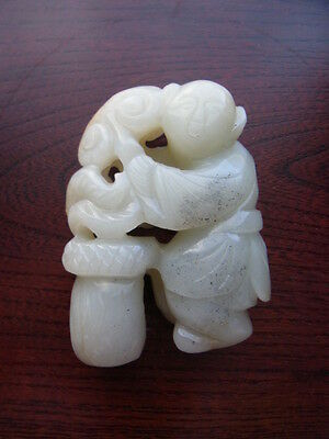 A  Carved  White Jade Decration
