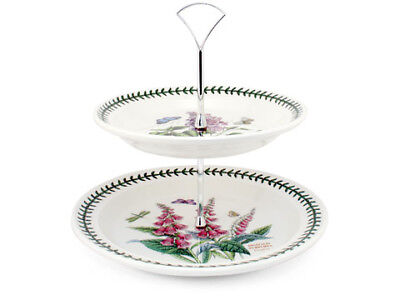 NEW Portmeirion Botanic Garden Two Tiered Cake Stand