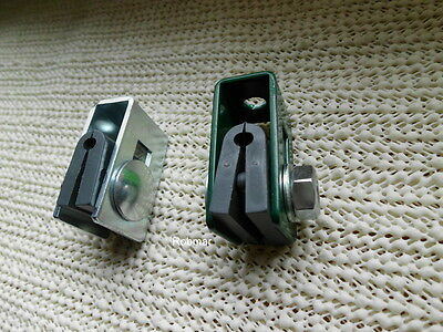 20x Black Green Fence Post Panels Clips Clamps