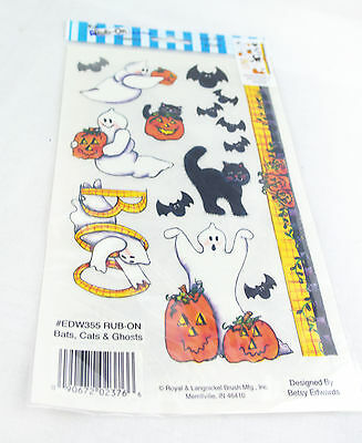 Rub-on Transfer Stickers - 355 Bats, Cats & Ghosts