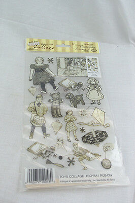 Rub-on Transfer Stickers - 541 Toys Collage
