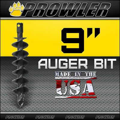 "9"" Auger Bit with Round Collar For Skid Steer Loaders 4' Length  - 9 Inch"