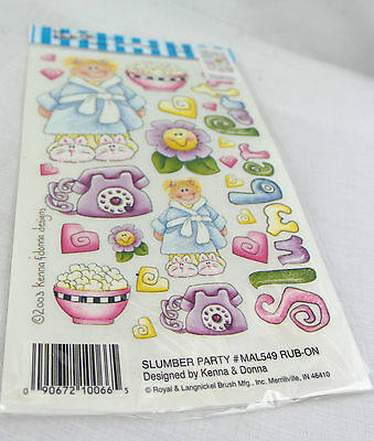 Rub-on Transfer Stickers - 549 Slumber Party