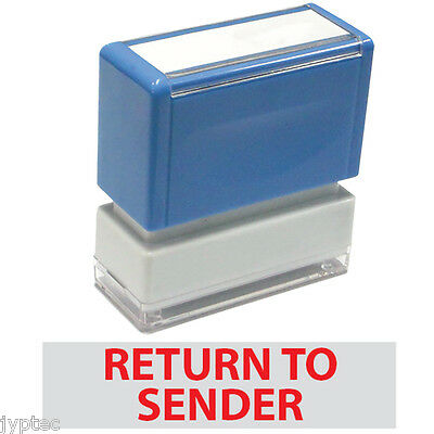 """JYP PA1040 Rectangle Stock Pre-Inked Rubber Stamp with """"Return To Sender"""""""
