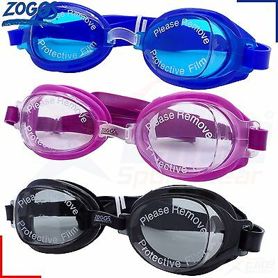 Zoggs Swimming Goggles - Otter Adults Mens / Womens - UV Black/Blue/Pink