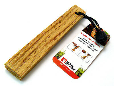 Light My Fire survival TINDER-ON-A-ROPE natural & efficient  Fire Fuel / Starter