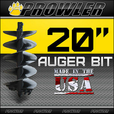"20"" Auger Bit w/ Round Collar For Skid Steer Loaders 4' Length  - 20 Inch"