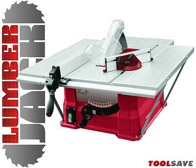 "Lumberjack 10"" 1500W Bench Table Saw Side & Rear Extensions 240v inc TCT Blade"