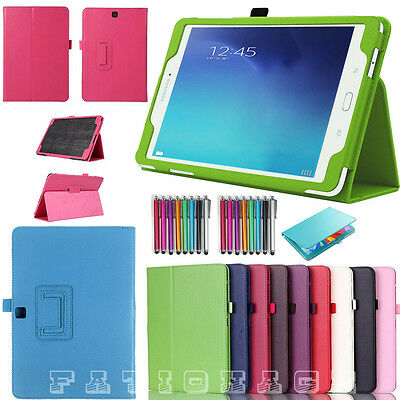 "Smart Flip Leather Stand Case Cover For Samsung Galaxy Tab A 9.7"" Tab E 9.6"""