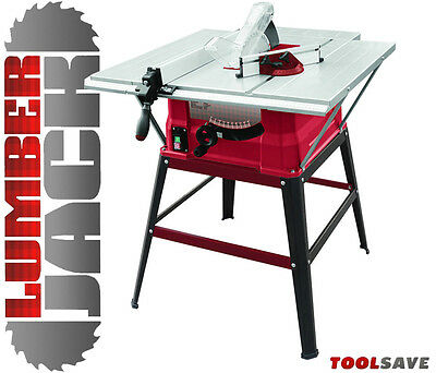 """Lumberjack 10"""" 1500W Table Saw Side & Rear Extensions 240v inc Legstand & Blade"""