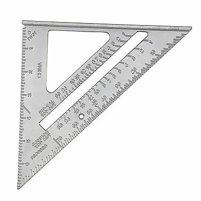 """6"""" Aluminium Alloy Roofing Rafter Speed Square Angle Measure Triangle Guide Tool"""