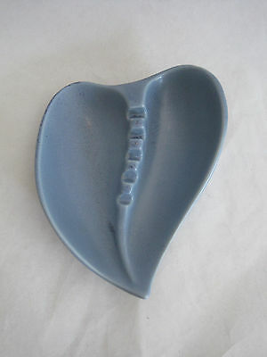 Red Wing Pottery Heart Ashtray Blue Speckled #41
