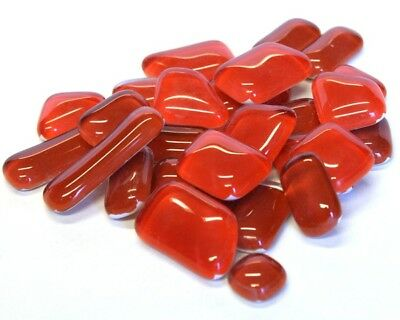 Crystal Glass mosaic Tiles Shapes - Poppy Red 100g(30 pieces)