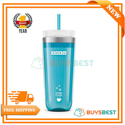 Zoku Iced Coffee Maker, 325ml, Teal, ZK121-TL