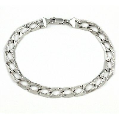 10k White Gold Fancy Bracelet (estate, 10.2g)#1790