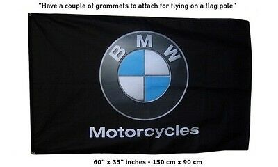 Big NEW BMW MOTORCYCLES FLAG BANNER 3X5 FEET R K 1600 GT GTL SERIES