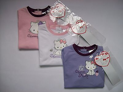 BNWT Girls Charmmy Kitty Long Sleeved T-Shirt Pink & White Ages 6 to 24 Months