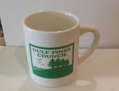 Vintage Boy Scouts Gulf Pines Council Coffee Cup Mug