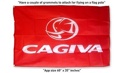 Big New Flag Cagiva motorcycle 3x5 feet banner Canyon 500 Agrale Mito  Raptor