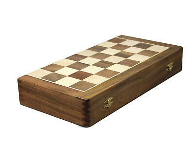 "20""handmade Inlaid Solid Sheesham Wooden Carved Chess Set Square 5.5Cm- King-9Cm"