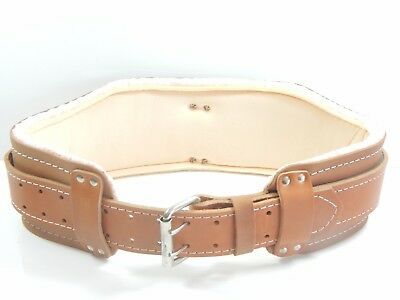 """DURACUIR Construction Leather Tool Belt With Lumbar Support 4"""" Occidental"""