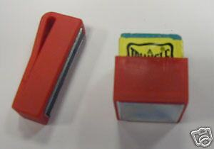 Red Magnetic Chalk Holder For Snooker / Pool Players