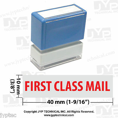 """JYP PA1040 Rectangle Stock Pre-Inked Rubber Stamp with """"First Class Mail"""""""