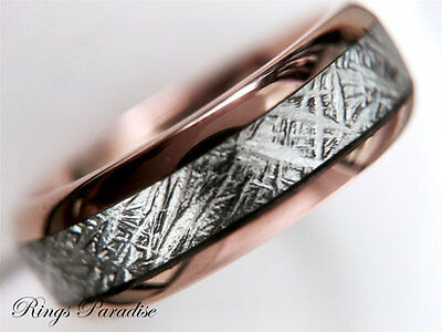 Classic Wedding Bands, Meteorite Inlay Rings