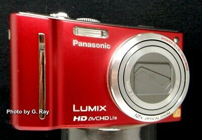Panasonic DMC-ZS7 Red Mechanically Reconditioned-GPS-25mm Ultra Wide Angle Lens