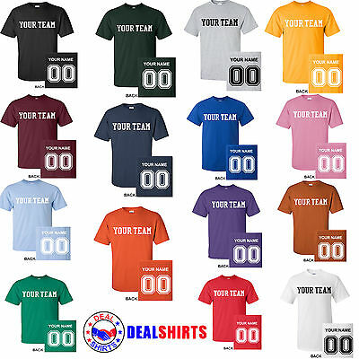 a425cc229 Brand NEW CUSTOM T-Shirt Personalized ANYCOLOR T-Shirts Softball Football  Soccer
