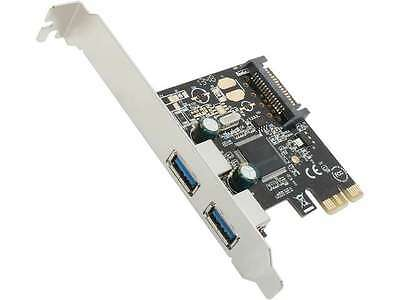 StarTech 2 Port PCI Express PCIe SuperSpeed USB 3.0 Controller Card w/ SATA Powe