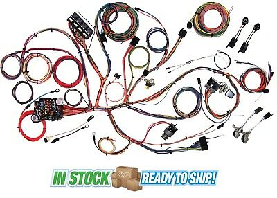 new 21 circuit ez wiring harness mini fuse chevy ford hotrods 1964 65 1966 mustang classic update american autowire wiring harness kit 510125