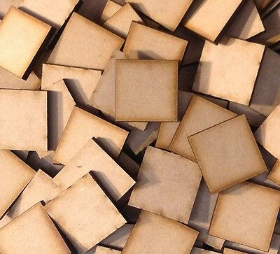 20x 30mm Square MDF Wooden Bases Laser Cut Crafts FAST SHIPPING US SELLER