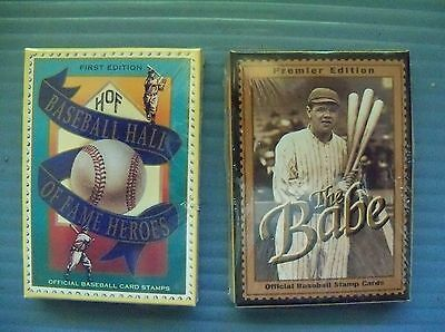 Babe Ruth & Hall of Fame Official Baseball Card Stamps St Vincent & Guyana