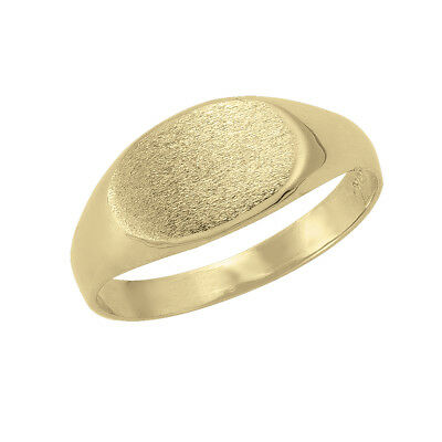 10k Yellow Gold Oval Flat Top Ring (new, 2.20g)#2035