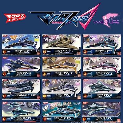BANDAI MACROSS DELTA Δ MECHA COLLECTION SERIES COMPLETE 12 Model kit SET