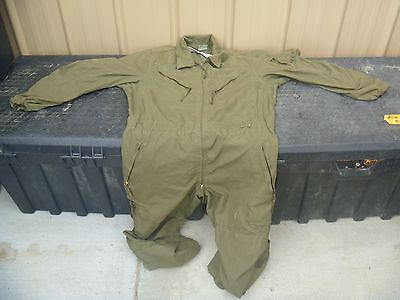 Excellent Used Military USGI Issued Crewman Utility OD Green Coveralls 80271 & 2 USGI Military Issued Used T10 Reserve Parachute Canopy Ripcord ...