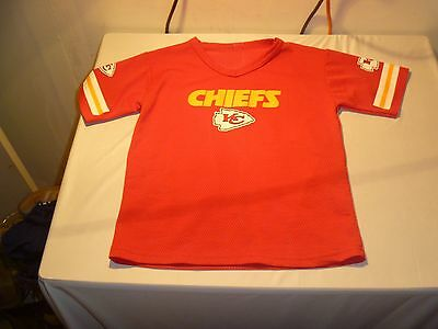 Excellent Used Condition Kids Kansas City Cheifs NFL Sports Team Jersey 80270