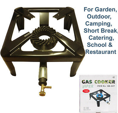 Cast Iron Gas Boiling Ring LPG Burner Cooker -Butane/Propane Camping Outdoors