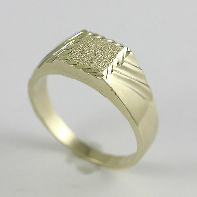10k Yellow Gold Square Flat Top Ring (new, 3.60g)#2036