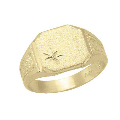 10k Yellow Gold Square Flat Top Ring (new, 3.9g)#2034