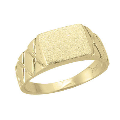 10k Yellow Gold Square Flat Top Ring (new, 4.2g)#2033