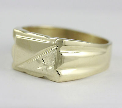10k Yellow Gold Square Flat Top Ring (new, 5.85g)#2038