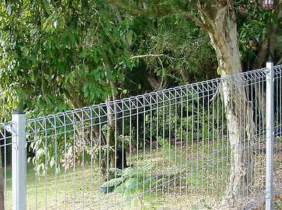 ARC Banksia weldmesh roll top wire fence panel (Galvanised) 2400(w) x 1200(h)