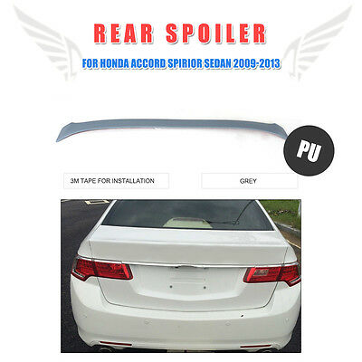 Car Rear Trunk Boot Wing Spoiler Fit For 2010-12 Honda Accord Euro Acura Tsx PU