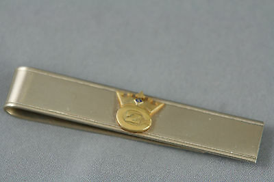Vintage Money Tie Clip Crown Zellerbach Paper Co Gold Tone 3.5 inch x .5 inch