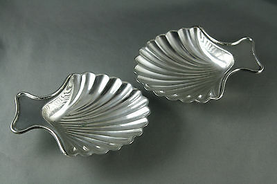 Vtg Shell Shaped Silver Plate Dishes Hawksworth Eyre and Co Sheffield England
