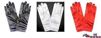 Satin Short Gloves Women Ladies Party Opera Bridal Fancy Costume Wedding 18596